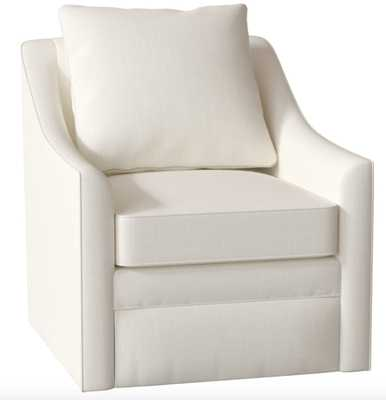 Quincy Swivel Armchair, Conversation Pearl - Birch Lane