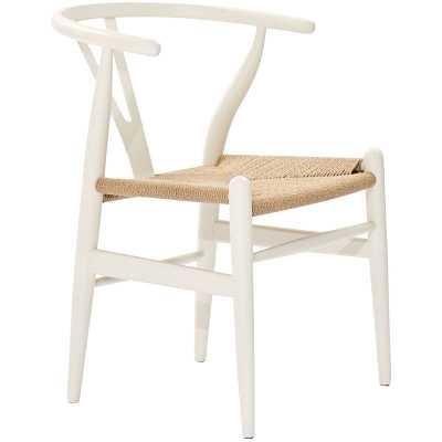 Dayanara Solid Wood Slat Back Dining Chair / White - Wayfair
