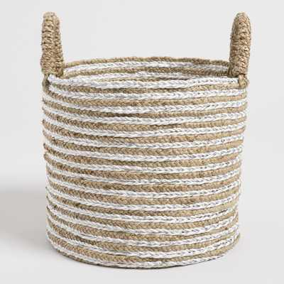 Medium Natural Seagrass Haven Basket with Lurex by World Market - World Market/Cost Plus