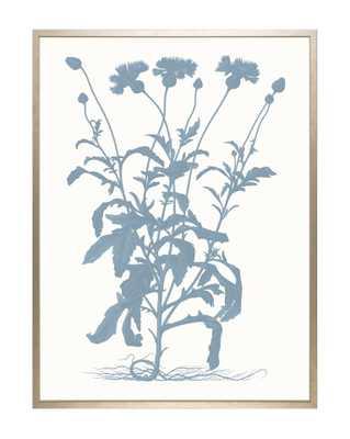 TONAL BLUE FLORAL 1 Framed Art - McGee & Co.