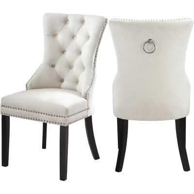 Stonefort Tufted Velvet Upholstered Dining Chair set of 2 - Wayfair