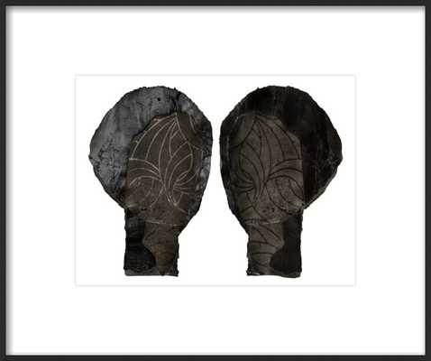 Two Heads - Contemporary Black Matte Frame With Matte - Artfully Walls