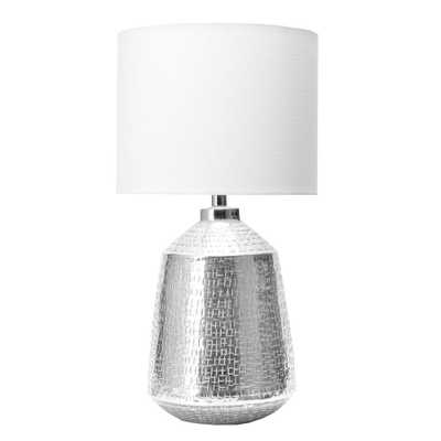 "nuLOOM Hamden 23"" Contemporary Silver Table Lamp - Overstock"