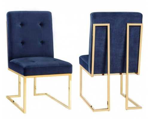 Akiko Chair, Navy (Set of 2) - High Fashion Home