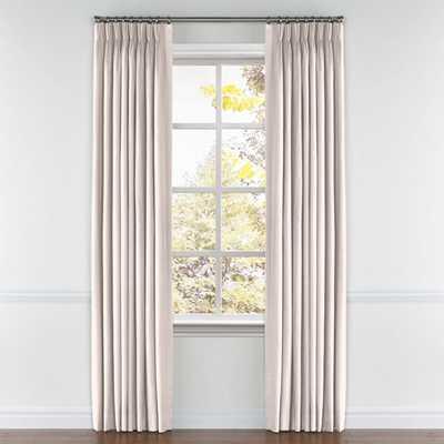 "Convertible Drapery  Curtain panel set -  Lush Linen - Cameo - 48"" X 120""L - Loom Decor"