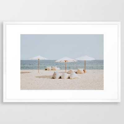 "Summer beach ii Framed Art Print / 26"" x 38"" - Society6"