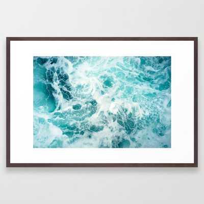 Ocean Sea Waves Framed Art Print - Society6