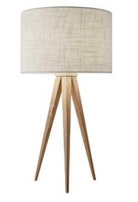 Oak Wood Tripod Lynnette Table Lamp - World Market/Cost Plus
