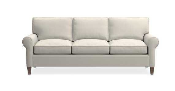 Montclair 3-Seat Roll Arm Sofa, Galaxy Linen, Drift left - Crate and Barrel