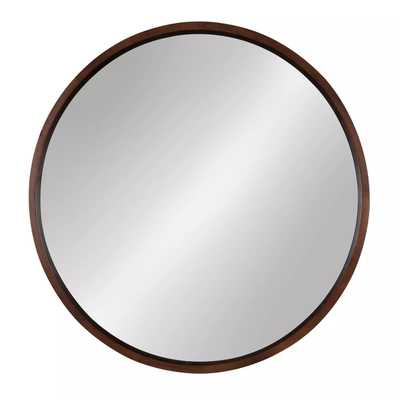 Kate and Laurel Hutton Round Decorative Wood Frame Wall Mirror - Target