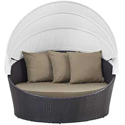 Brentwood Canopy Patio Daybed with Cushions - Wayfair