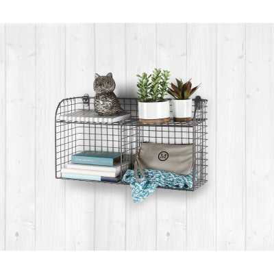Elyse Vintage Wall Storage Organizer With Wall Baskets - Wayfair