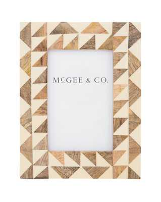 Geometric Bone & Wood Frame - McGee & Co.
