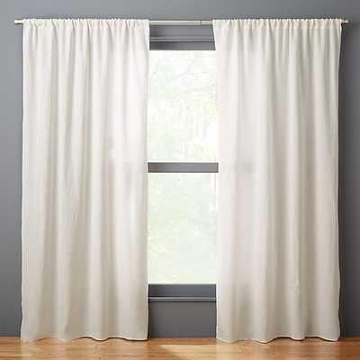 """silver grey linen curtain panel 48""""x84"""""" - CB2"