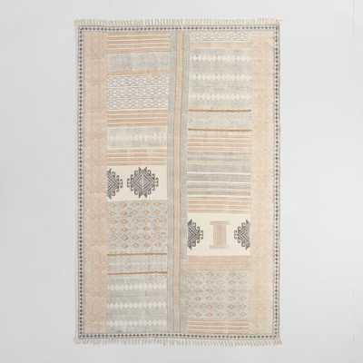 Block Print Cotton Suri Area Rug - 8Ftx10Ft by World Market 8Ftx10Ft - World Market/Cost Plus
