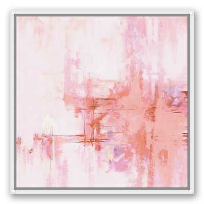 'Blush Pink Abstract' Framed Graphic Art Print on Canvas - Wayfair