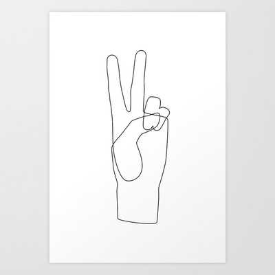 """Peace Art Print by Explicit Design 7""""x10"""" - Society6"""