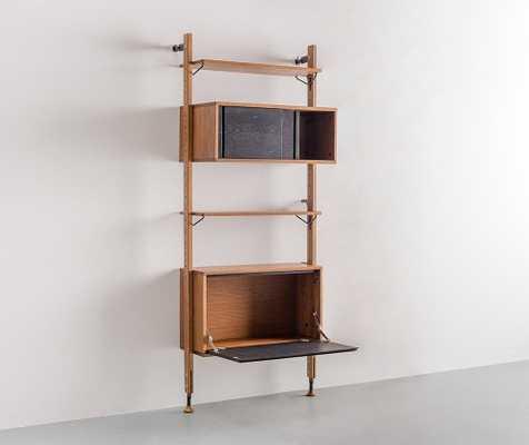 Dexter Modular Shelf with Cabinet - Joybird