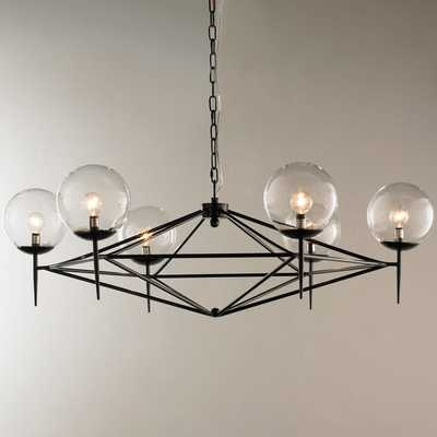 MODERN PYRAMID GLASS GLOBES CHANDELIER - Shades of Light