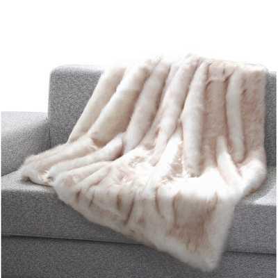 Thiele Luxury Tip Dye Faux Fur Throw - Wayfair