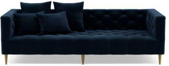"Ms. Chesterfield Fabric Sofa / Navy Performance Velvet / 94"" - Interior Define"
