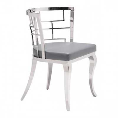 Quince Dining Chair Gray, Set of 2 - Zuri Studios