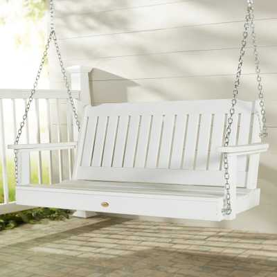 Amelia Porch Swing in White - Birch Lane