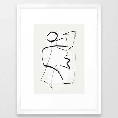 """Abstract line art 6 - 20"""" x 26"""" - vector white - Society6"""