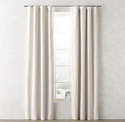 """Linen-Cotton Drapery Panel - Warm White - 84""""l x 50""""w - RH Teen"""