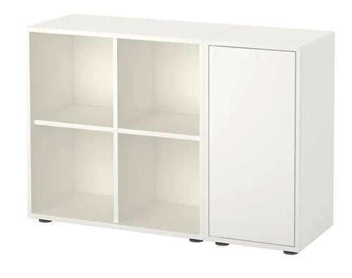 EKET Storage combination with feet, white - Ikea