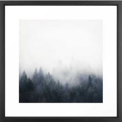 "I Don't Give A Fog Framed Art Print, Vector Black, 22"" X 22"" - Society6"