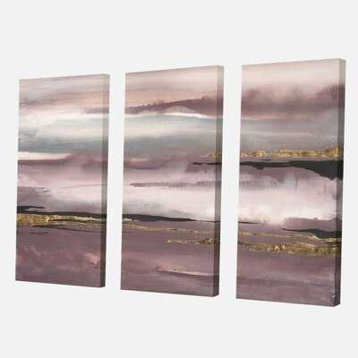 Shabby Elegance 'Purple Glam Storm IV' Painting Multi-Piece Image on Wrapped Canvas - Wayfair