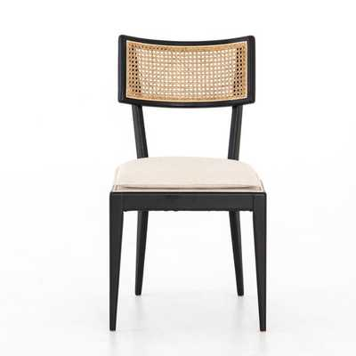BRITT UPHOLSTERED DINING CHAIR IN NATURAL CANE - Burke Decor