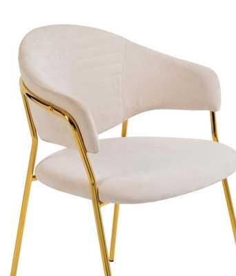 Ruby Cream Linen Chair (Set of 2) - Maren Home