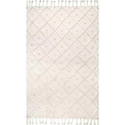 Ceniceros Flatweave Wool Ivory Area Rug - Wayfair