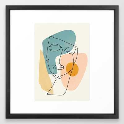 Abstract Face 25 Framed Art Print - Society6