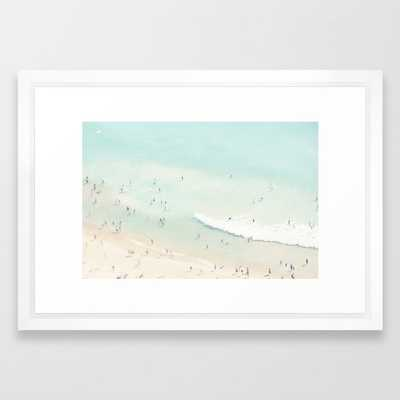 "beach summer fun - 15"" x 21"" - vector white - Society6"