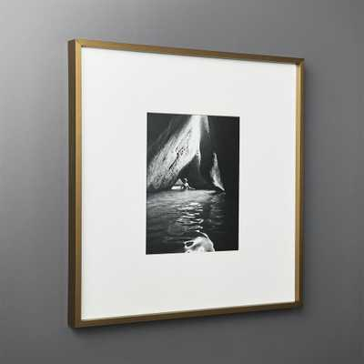 Gallery Brass Frame with White Mat 8x10 - CB2