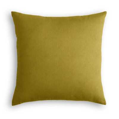 "Throw Pillow  Classic Velvet - Chartreuse - 16"" - poly insert - Loom Decor"