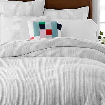 Cotton Jersey Cloud Duvet, King, Light Heather Gray - West Elm