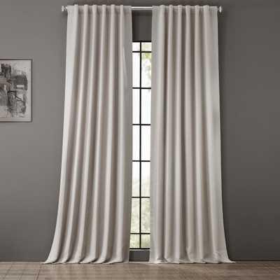 Exclusive Fabrics & Furnishings Alabaster Beige Blackout Room Darkening Curtain - 50 in. W x 96 in. L - Home Depot