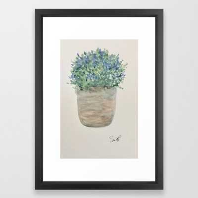 Old World #watercolor #botanical Framed Art Print - Society6