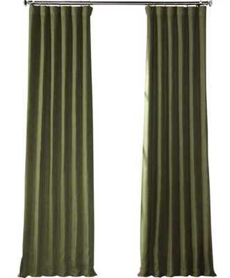 Clem Solid Blackout Rod Pocket Single Curtain Panel - AllModern