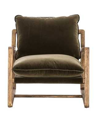 URA CHAIR, OLIVE GREEN & DISTRESSED OAK - McGee & Co.