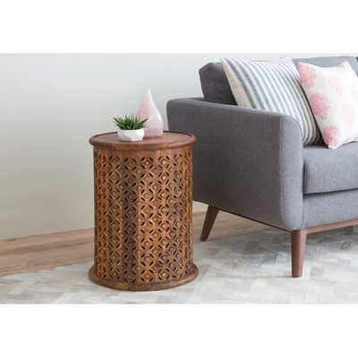 Lorraine Global Archive Drum End Table- Mango - Wayfair