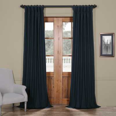 Bryce 100% Cotton Solid Blackout Thermal Rod Pocket Single Curtain Panel - Wayfair