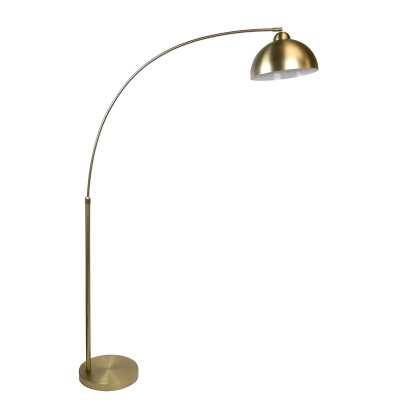 "Delapaz 69"" Arched Floor Lamp - Plated Gold - Wayfair"