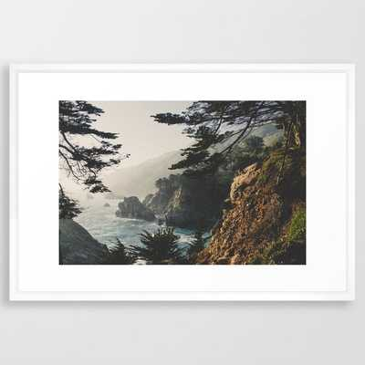 "Big Sur - 26"" x 38"" vector white - Society6"