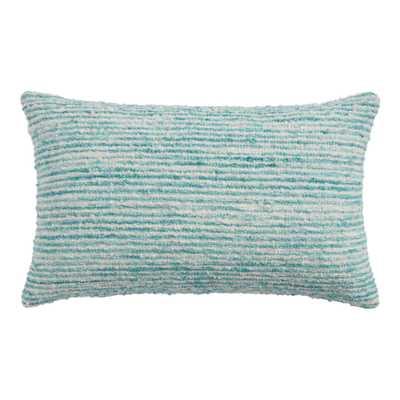 Woven Boucle Stripe Indoor Outdoor Lumbar Pillow - World Market/Cost Plus