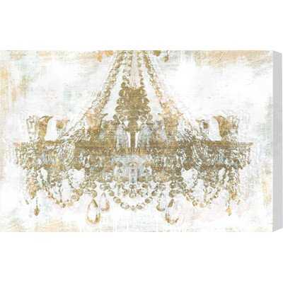 'Gold Diamonds Faded Chandelier' Graphic Art Print on Wrapped Canvas - AllModern
